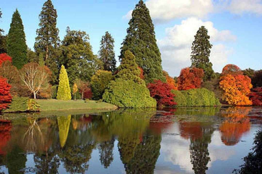 The internationally renowned landscape garden laid out in the 18th century by Capability Brown